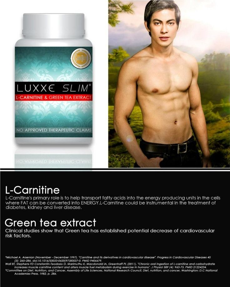 LUXXE SLIM  L-Carnitine & Green Tea Extract