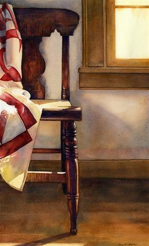 """Daily Paintworks - """"Parlor Afternoon"""" - Original Fine Art for Sale - © Kara K. Bigda"""