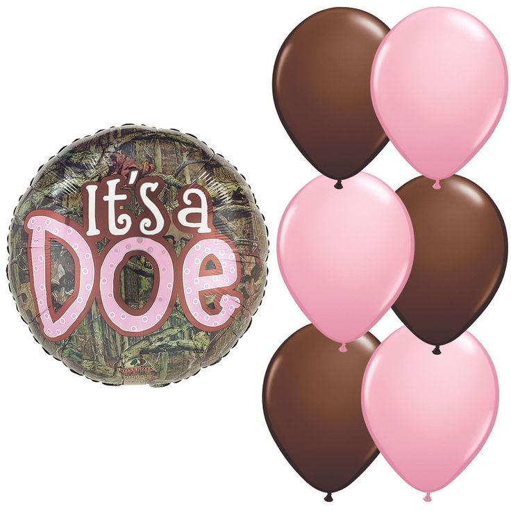 It's a Doe Balloon Bundle, Camouflage and Pink Girl Baby Shower