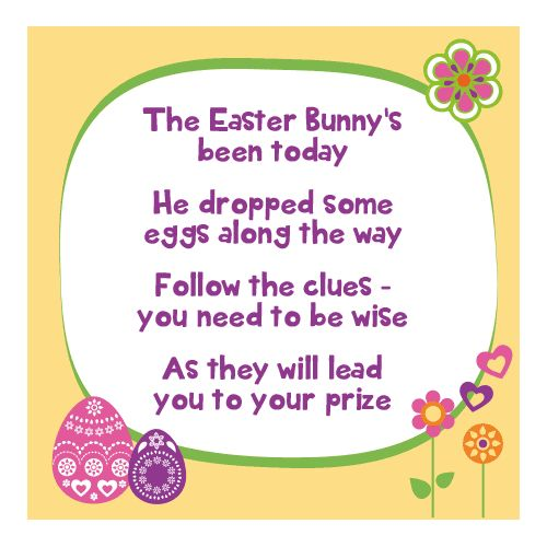Easter Egg Clue Intro Poem Hunt Clueseaster