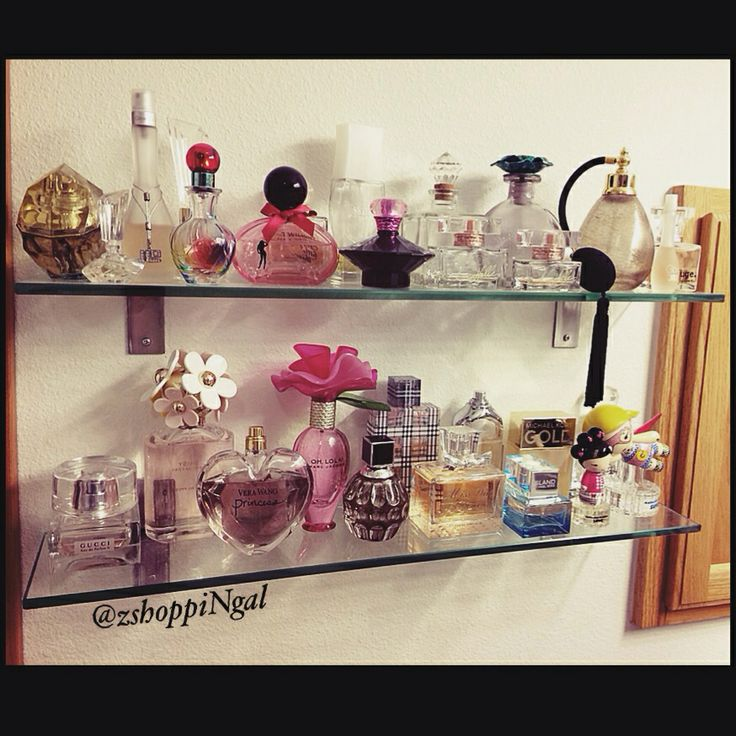 Perfume Storage Using Glass Shelves From Ikea Perfume
