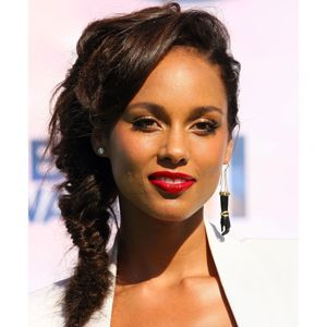 Alicia Keys is not the first (or last) celeb to flaunt an inverted braid. The chic plaited style has been rocked by everyone from Diane Kruger to Rihanna in recent months, and can be easily adapted to weave in wispies on shorter lengths.    Read more: Hairstyles Fall 2011 for Long, Short, and Medium Length Hair - Fall 2011 Hair Trends - Real Beauty     i need to learn to do this braid.