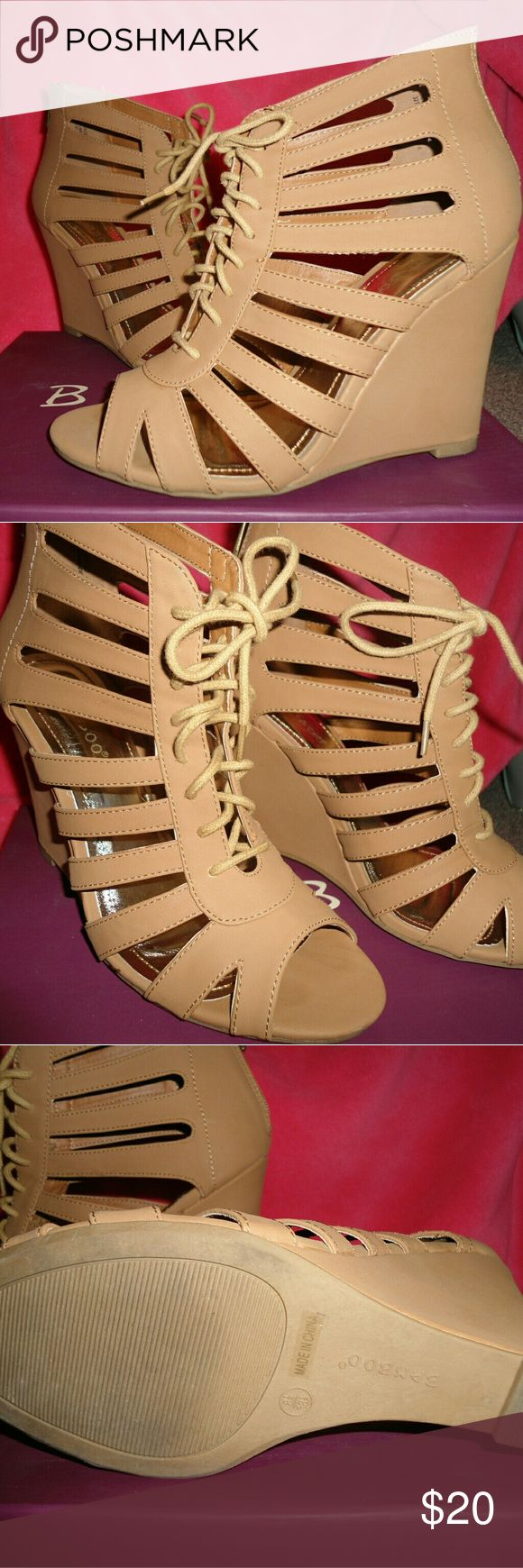 Lace-Up Wedges Cute Lace-Up Wedges in great condition. Only worn once. Still with box and original price ticket. These are adorable!!  Listing price or best Offer! :) Tilly's Shoes Wedges