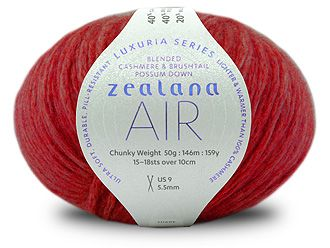 Zealana AIR Chunky L02 Tuscan Red