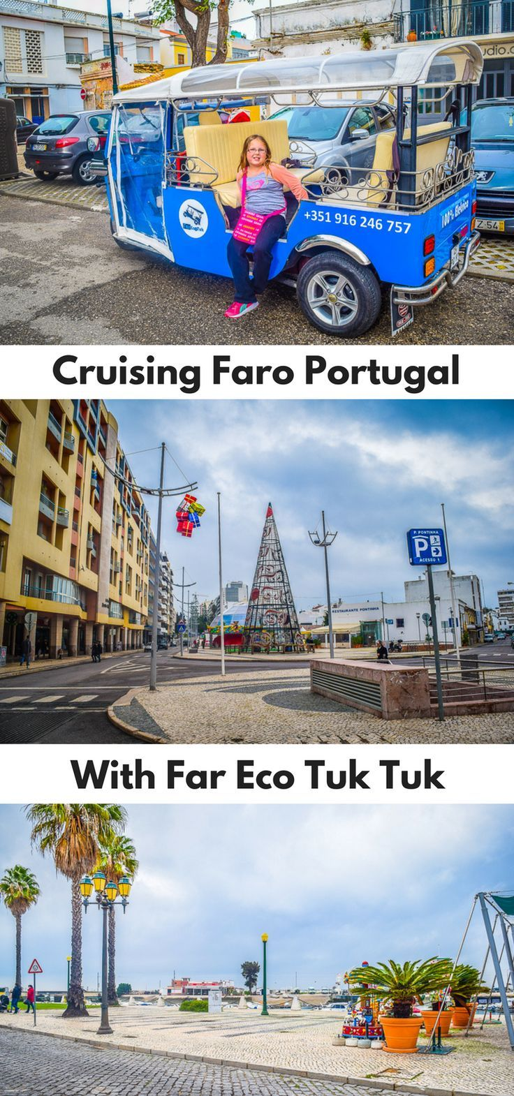 When checking out things to do in #Faro on the Algarve, we came across Far Eco Tuk Tuk. We immediately knew this was something the kids would love. 2 hours in a tuk-tuk, what kids would not love this?