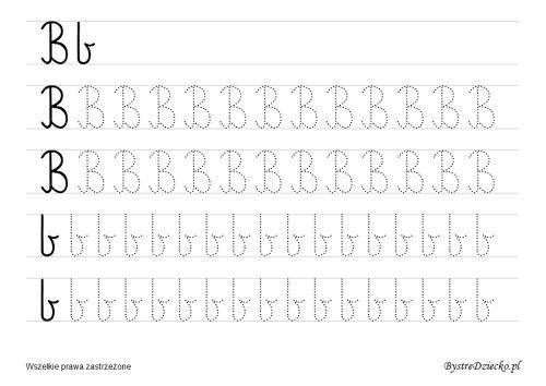 B – nauka pisania dla dzieci – duża czcionka « Bystre Dziecko