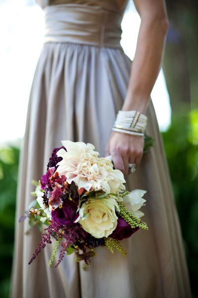 17 best images about for stephanie wine and plum on for Cream and purple wedding dresses
