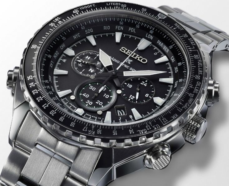 Seiko Prospex Radio Solar Sync World Time Chronograph