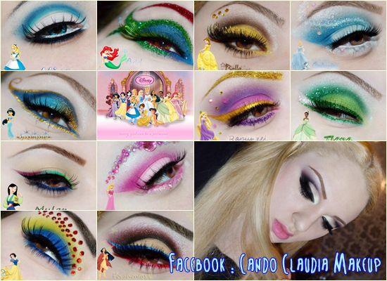 Disney Princess inspired make-up