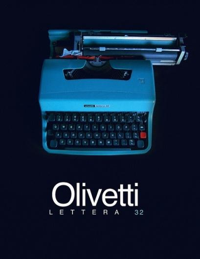 Designspiration — Olivetti Lettera 32 Typewriter (teaser) | Flickr - Photo Sharing!