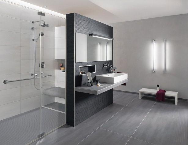 Bad Modern Fliesen Moderne Fliesen Badgestaltung Badezimmer Anthrazit