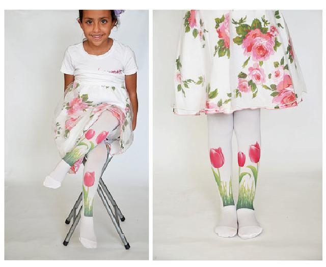 legwarmer for kids, white, flower, wedding
