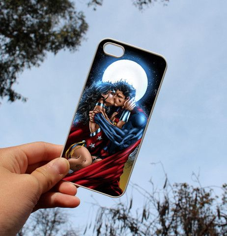 iphone 5/5s/4/4s/5c case,superman And wonder woman the kiss case for i – CELLCUSTOMCASE
