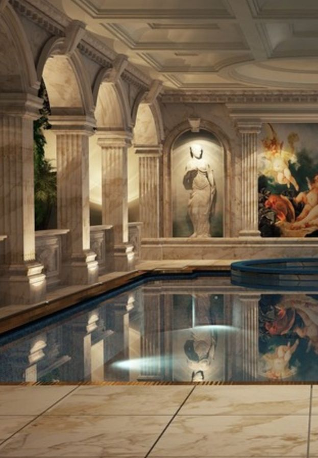 Luxurious indoor pool, Live The Good Life - All about Luxury Lifestyle~ ♔Luxury★Beauties♔. Love it!