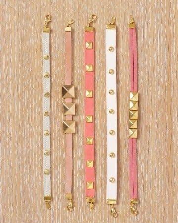 Martha Stewart shows you how to make leather studded jewelry.