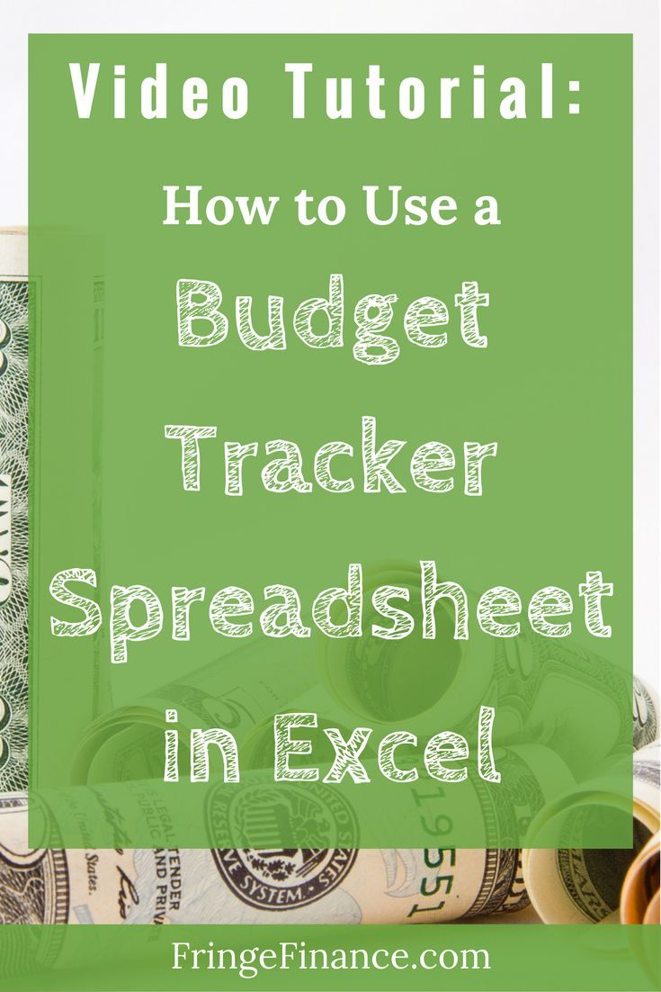 create a budget and track your spending with this free budget