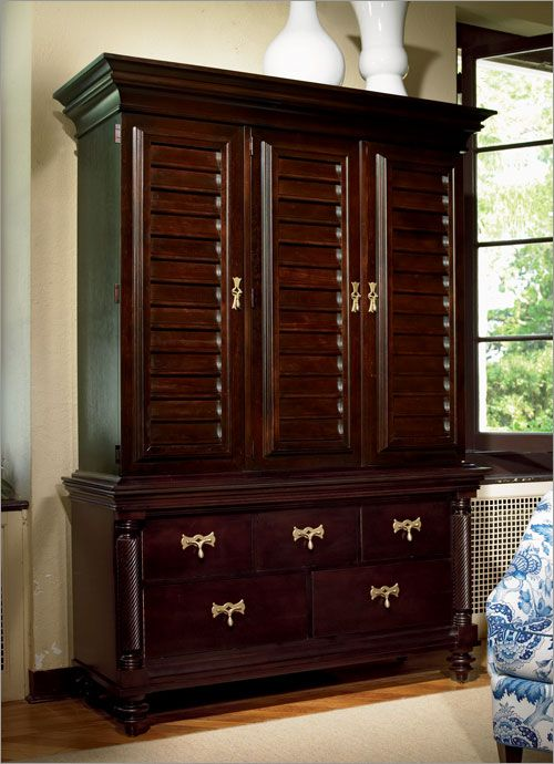 plantation style armoire my west indies british colonial. Black Bedroom Furniture Sets. Home Design Ideas