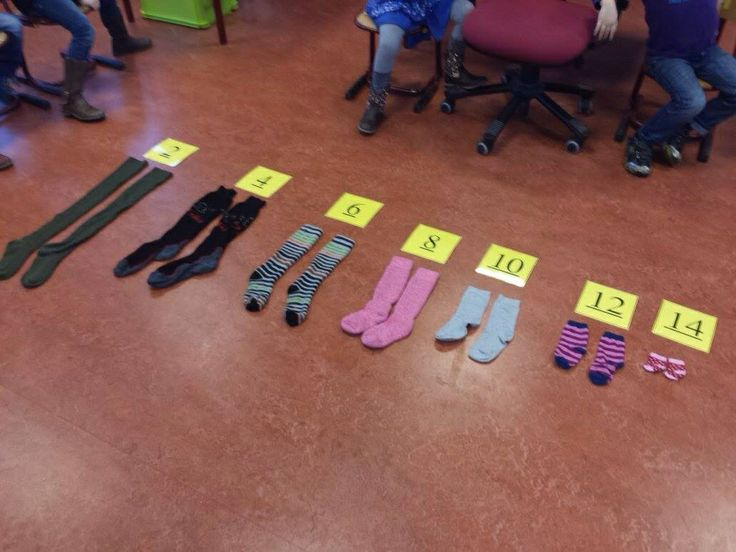 Tellen in sprongen van twee met sokken