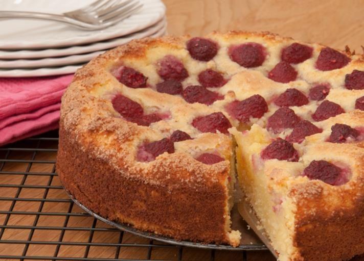 Raspberry and coconut sponge recipe 1