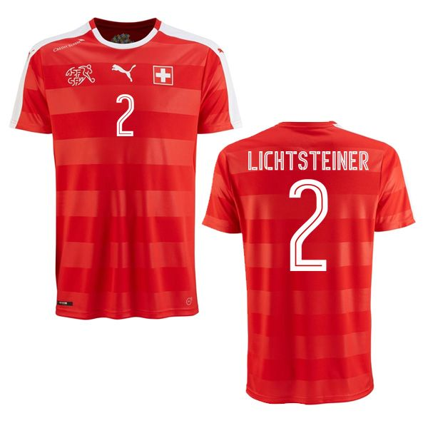 9ca5782cb84 Stephan Lichtsteiner 2 2018 FIFA World Cup Switzerland Home Soccer Jersey