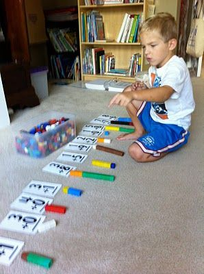 Making Math Fun: A simple addition activity using Unifix cubes and flash cards