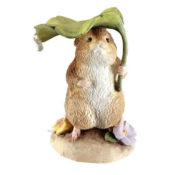 Beatrix Potter Timmy Willie Under Leaf Figurine