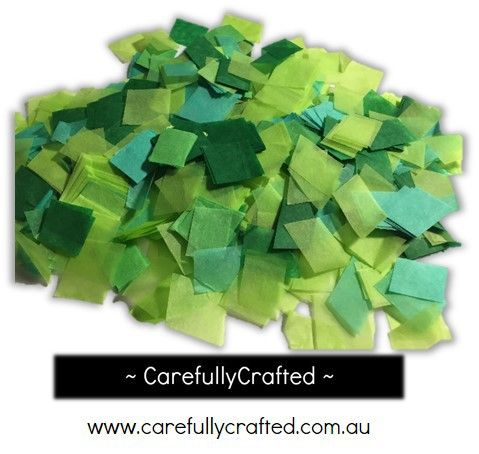 CarefullyCrafted - 25 Grams Tissue Paper Confetti - Green Shades - 0.75 inch Squares  - wedding, wedding planning, confetti pieces, green confetti, squares, party, event, event decoration, décor, tableware, green paper pieces http://carefullycrafted.com.au/25-grams-tissue-paper-confetti-green-shades-0-75-inch-squares-cs5/