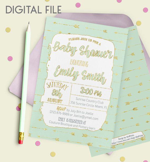 Southwestern Boy Baby Shower Invitation Shabby Baby by AlniPrints #baby #shower #invitation #invite #rustic #modern #DIY #gifts #digital #printable #Buho #floral #download #Shabby