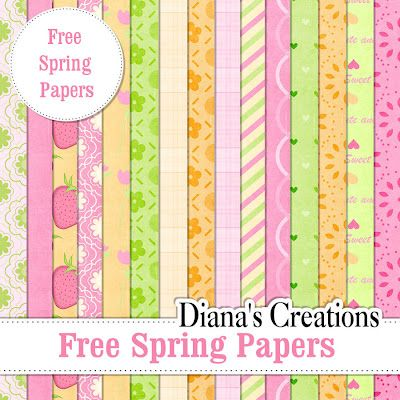Free Baby Digital Scrapbook Paper | Free Spring Papers |