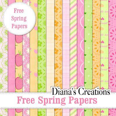 Free Baby Digital Scrapbook Paper   Free Spring Papers  