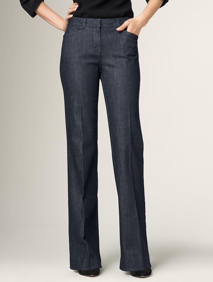 heritage slim and flare dark wash jean