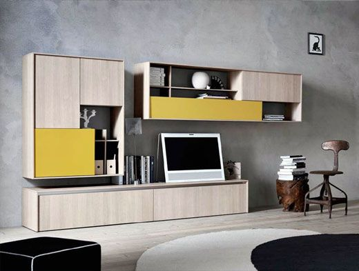 Wall-mounted Storage Wall - http://www.luxuryhomeinteriordesigns.com/others/wall-mounted-storage-wall/