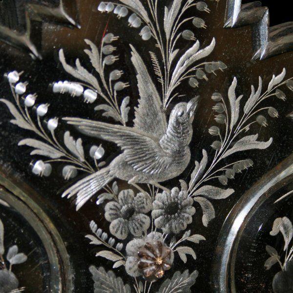 Engraved Venetian Wall Mirror