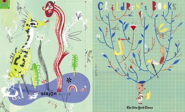 Sara Fanelli - Illustration - Collage, Prints, Mixed Media