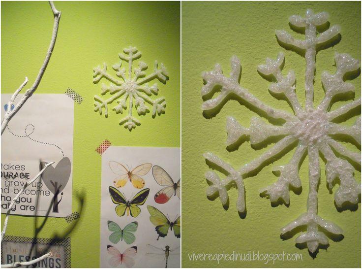 Vivere a piedi nudi living barefoot: Craft & DIY decorazioni di Natale: fiocchi di neve di colla