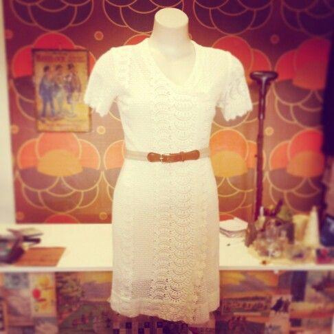 #vintage #60s #sixties #creamy #white #crochet #lace #dress $109 #likeavirgin #gogo #cute #delightful #pretty #lady #fun #retro