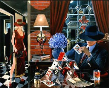 Artify Collections - Hand Painted High City Life Oil Painting Number 030, $72.60 (http://artifycollections.com/hand-painted-high-city-life-oil-painting-number-030/)