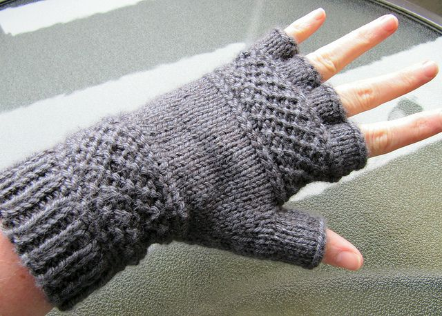 Knit Fingerless Gloves Pattern Free : Treads on Ravelry. Free pattern!! Knitted Mittens Pinterest