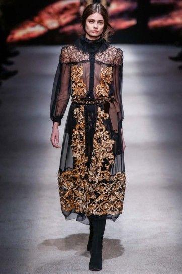 Vestito nero e oro Alberta Ferretti