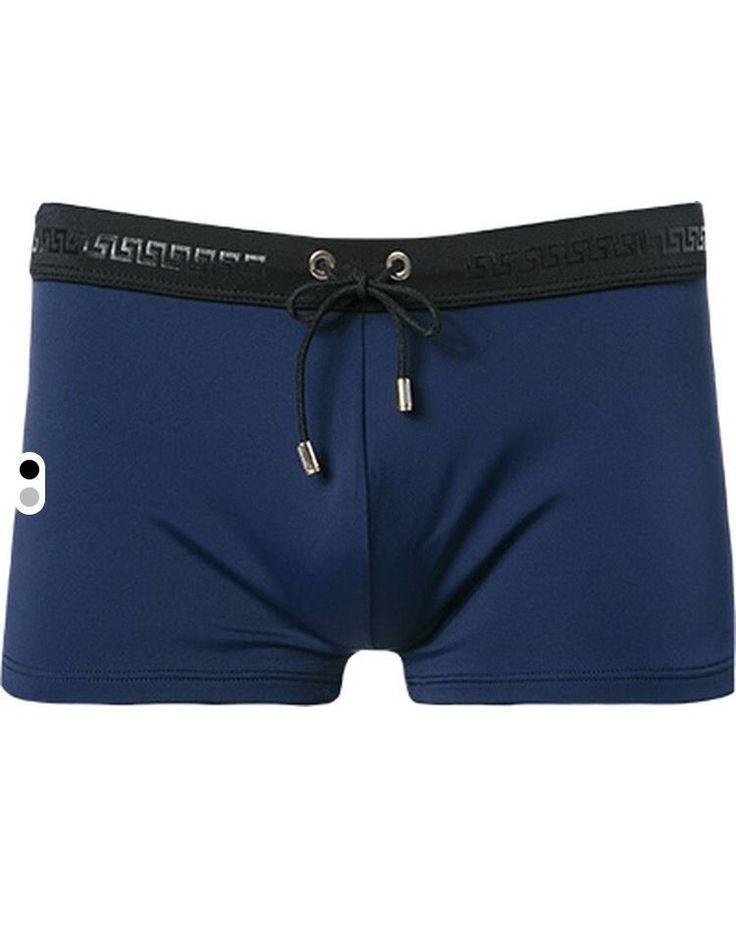 Versace Greca Black And Navy Beachwear Swimming Boxer Size 4, L, UK/US 34-36