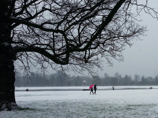 London in the snow, January 2013, by Virginie Alix