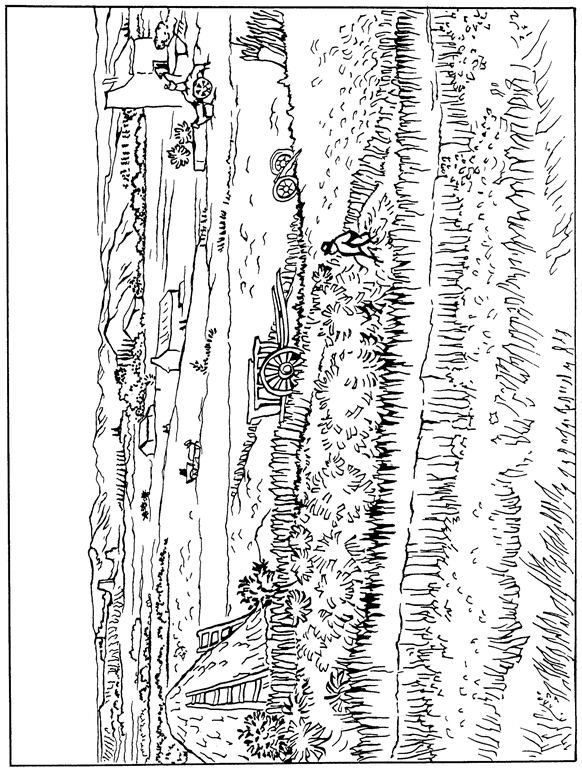 coloring page Vincent van Gogh