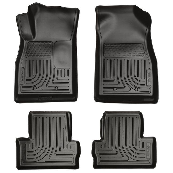 Husky Weatherbeater 2011-2015 Chevrolet Volt Black Front & Rear Floor Mats/Liners