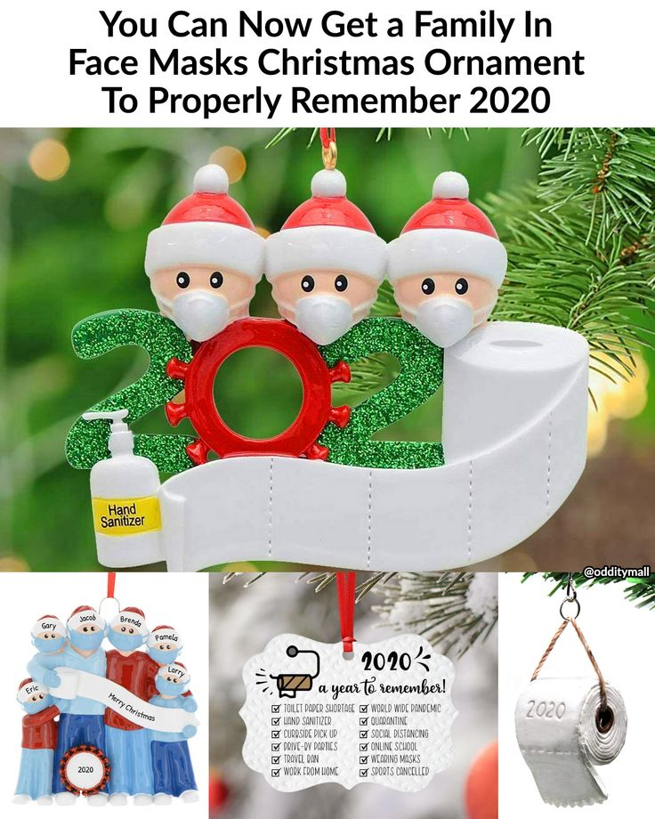 You Can Now Get a Family In Face Masks Christmas Ornament