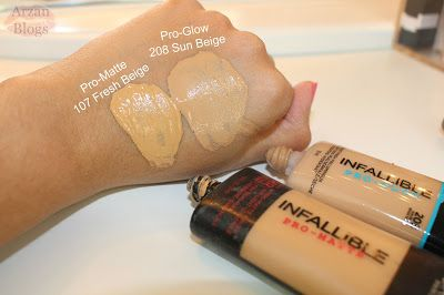 L'Oréal Infallible Pro Glow Foundation 208 Sun Beige Demo, Review & Comparison with L'Oreal Pro-Matte Foundation 107 Fresh Beige https://www.youtube.com/watch?v=AV9DwvUqCas Shade Reference: MAC NC40-NC42/Pakistani/Indian/Brown Skin