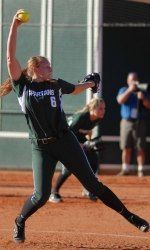 Michigan State softball swept Indiana with a 2-1 win in the final game of the series Sunday afternoon at Secchia Stadium.  The Spartans improved their record to 17-13 on the season, 3-0 in Big Ten play.  Junior Kelly Smith pitched the complete game.  Senior Jayme OBryant earned the only MSU RBI.