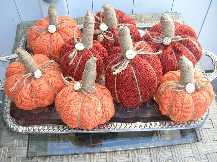 Sweater pumpkins | My Handcrafted/Repurposed items ...