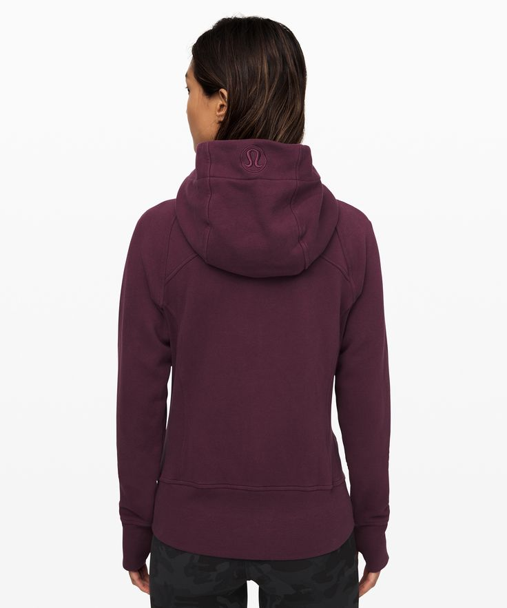 lululemon Women's Scuba Hoodie Light Cotton Fleece, Arctic Plum, Size 4 15