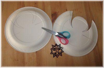 Anděl z papírového talíře