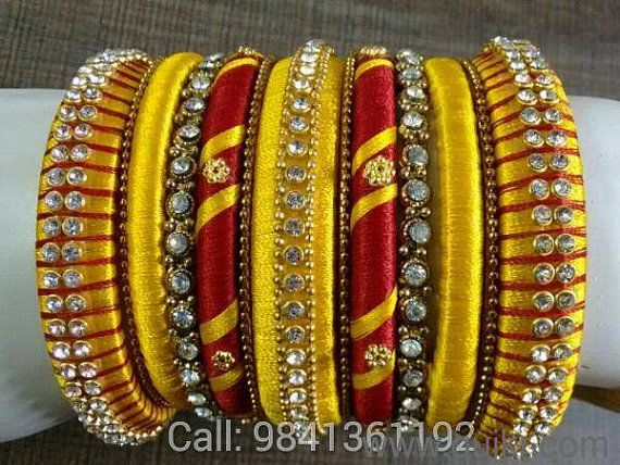 Sparking Drops High Quality silk thread Bangles by SparkingDrops